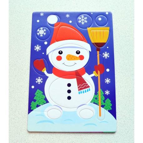 Конструктор новогодний для детей 2-4 года в детский сад из подарочного набора Play Plan Box