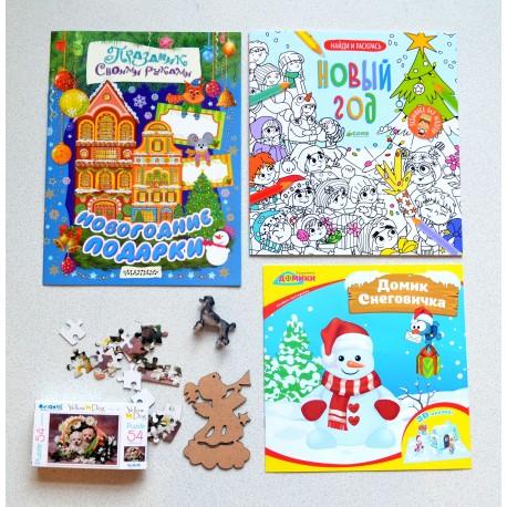 Состав новогоднего набора в детский сад для детей 3-7 лет