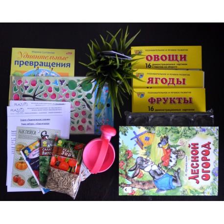 Состав детского набора для изучения диких животных России