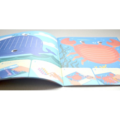 """Раскраска для детей из подарочного набора Play Plan Box """"Морской"""""""